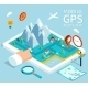 Isometric Mobile GPS Navigation Map - GraphicRiver Item for Sale