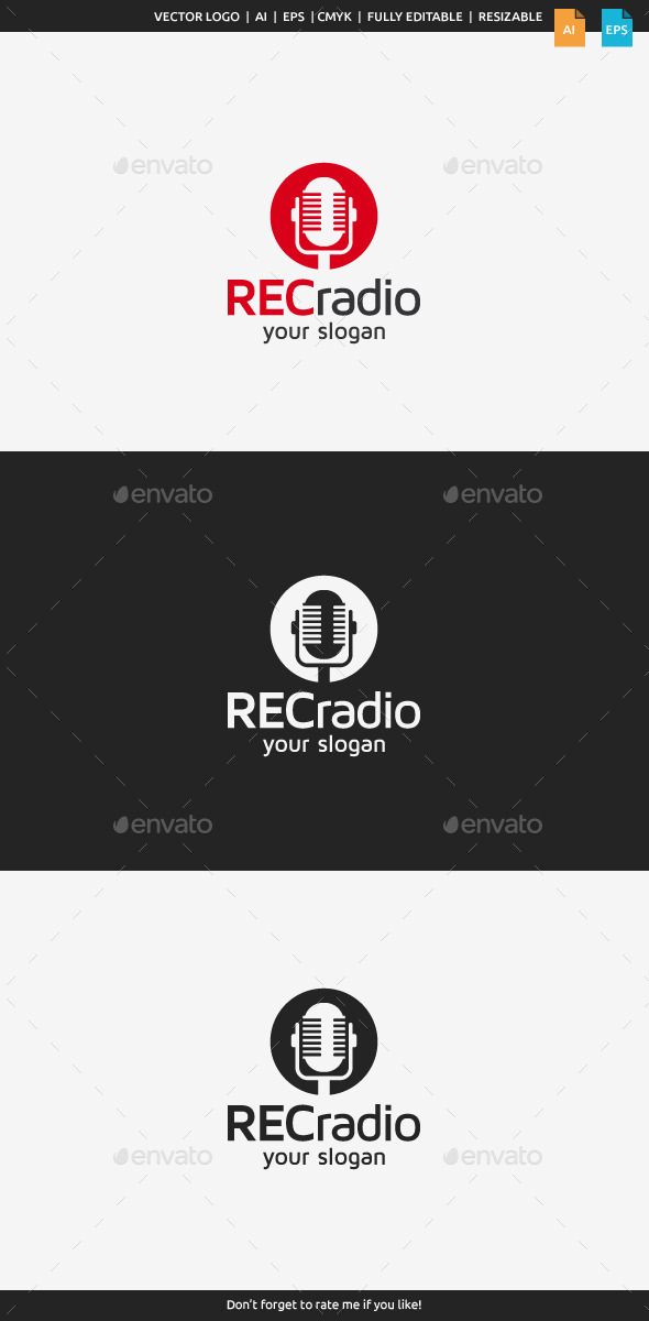 GraphicRiver Radio Logo Template 10482758