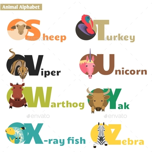 GraphicRiver Animal Alphabet 10482759