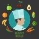 Healthy Food Cooking Flat Icons - GraphicRiver Item for Sale