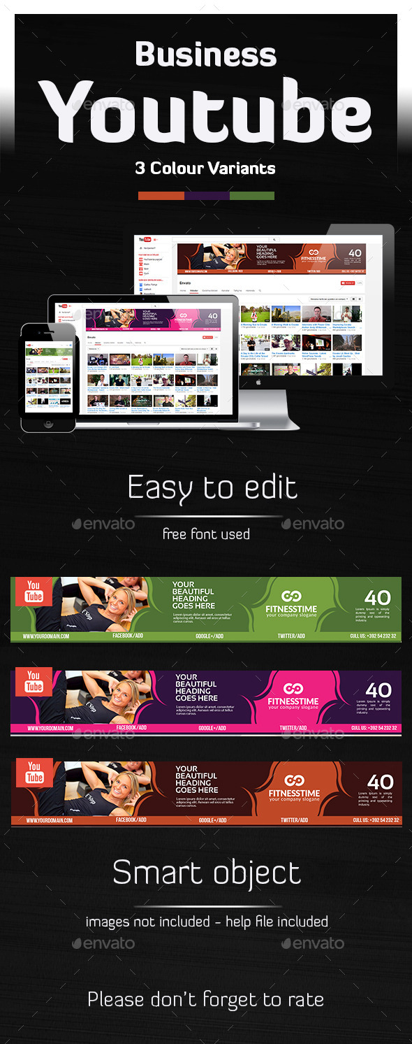 GraphicRiver Tivato Ultimate Youtube Banner 10482864