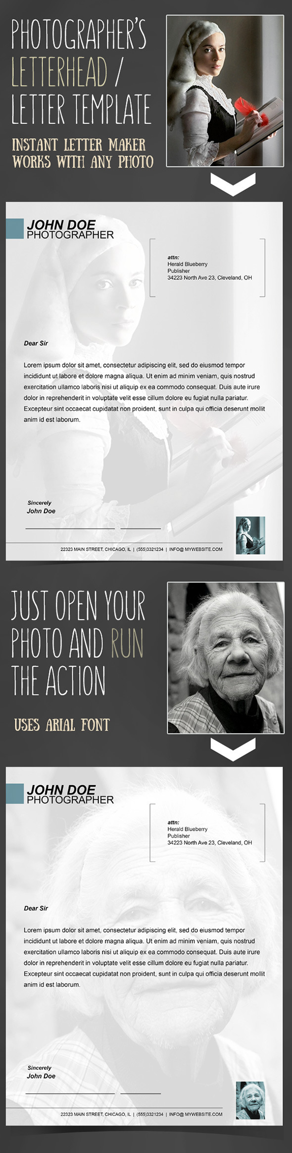 GraphicRiver Instant Letterhead for Photographers Action 10482908