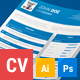 Blue Resume / CV - GraphicRiver Item for Sale