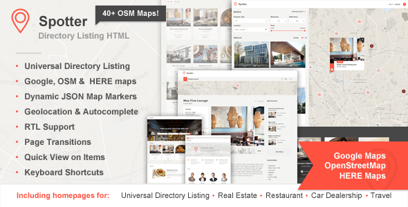 ThemeForest Spotter Universal Directory HTML Template 10427787
