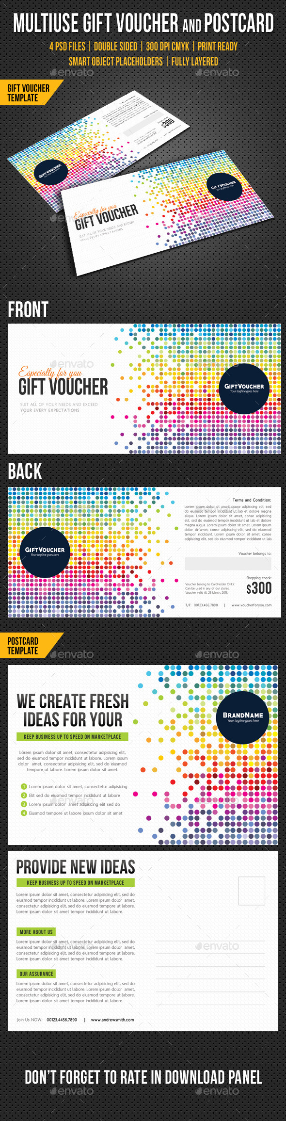 GraphicRiver Multiuse Gift Voucher and Postcard V02 10483425