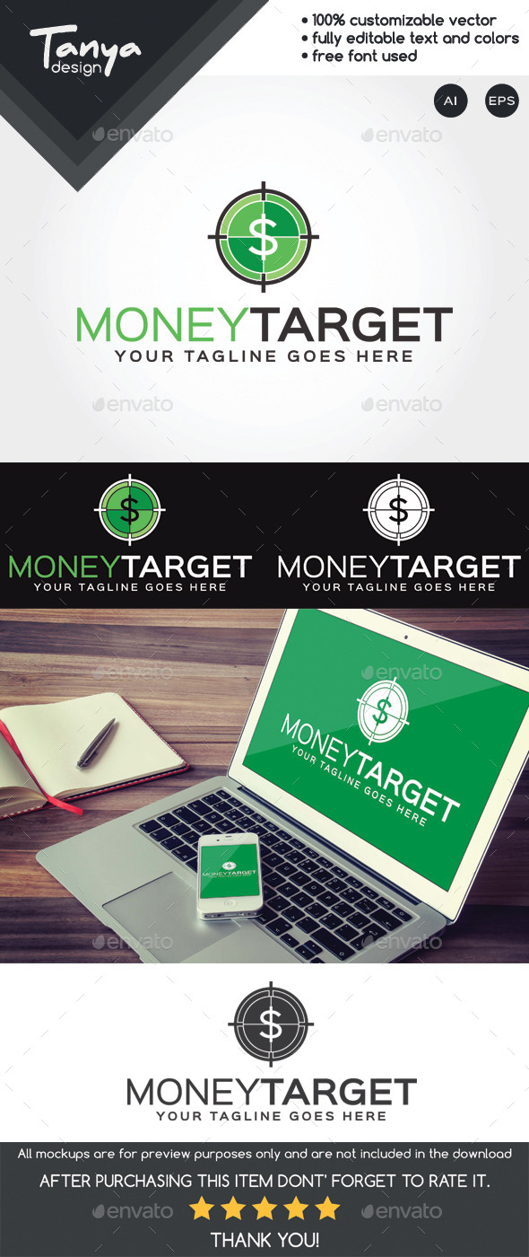 GraphicRiver Money Target Logo Template 10483449