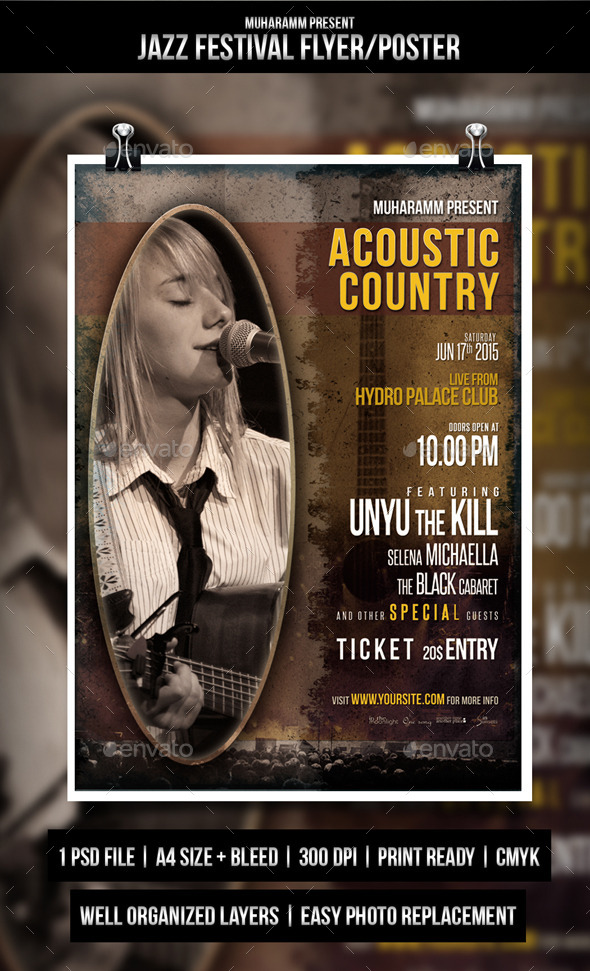 GraphicRiver Acoustic Country Flayer 10483514
