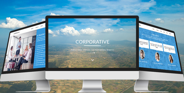 ThemeForest Corporative One Page Parallax Muse Template 10483571