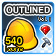 Outlined V1 - 540 Icons Pack - GraphicRiver Item for Sale