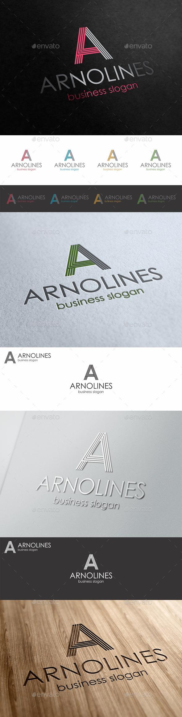 GraphicRiver A Line Letter Logo Template 10483624