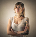 Tattooed girl  - PhotoDune Item for Sale