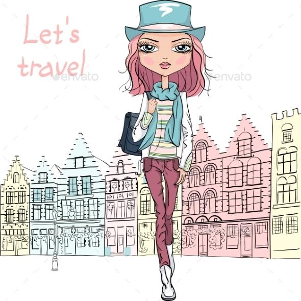 GraphicRiver Fashion Girl 10484033