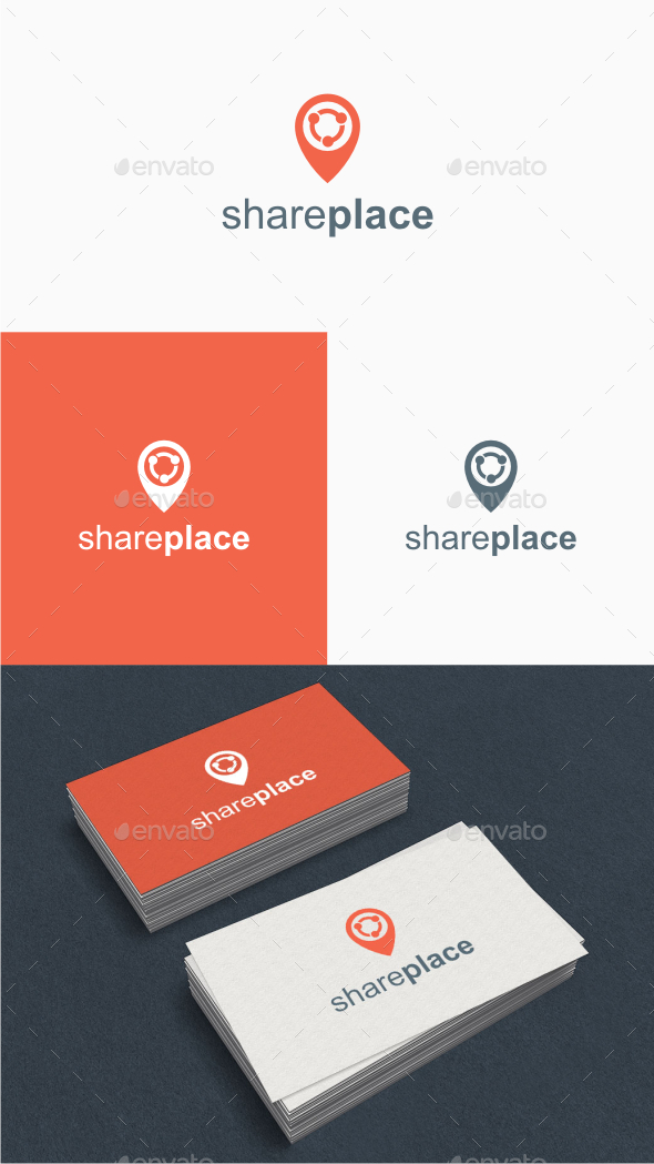 GraphicRiver Share Place Logo Template 10484234