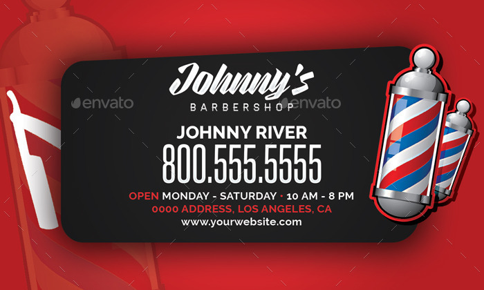 Barbershop Business Card Template by flyerpunkz | GraphicRiver