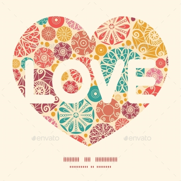 GraphicRiver Love Text Frame 10484344