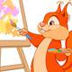 Squirrel Artist - GraphicRiver Item for Sale
