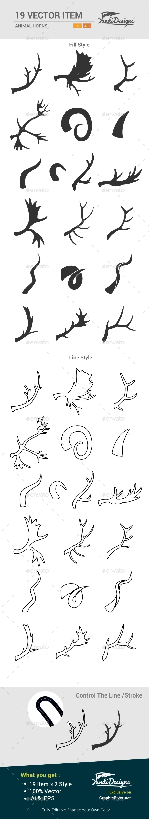 GraphicRiver Animal Horns 10484547