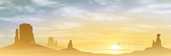 GraphicRiver A Desert Landscape 10484549