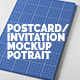 Postcard & Invitation Mock-up Potrait - GraphicRiver Item for Sale