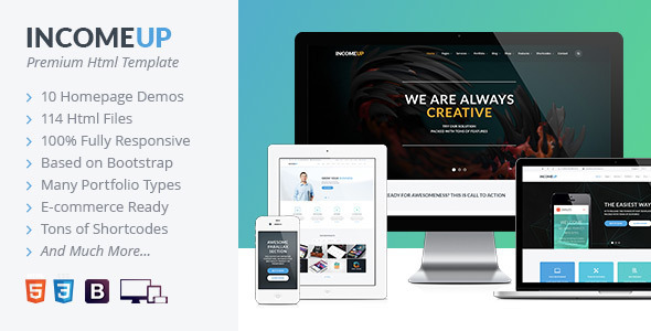 IncomeUp | Multi-purpose Business HTML Template - Corporate Site Templates