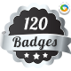 120 High Quality Badges & Seals - GraphicRiver Item for Sale