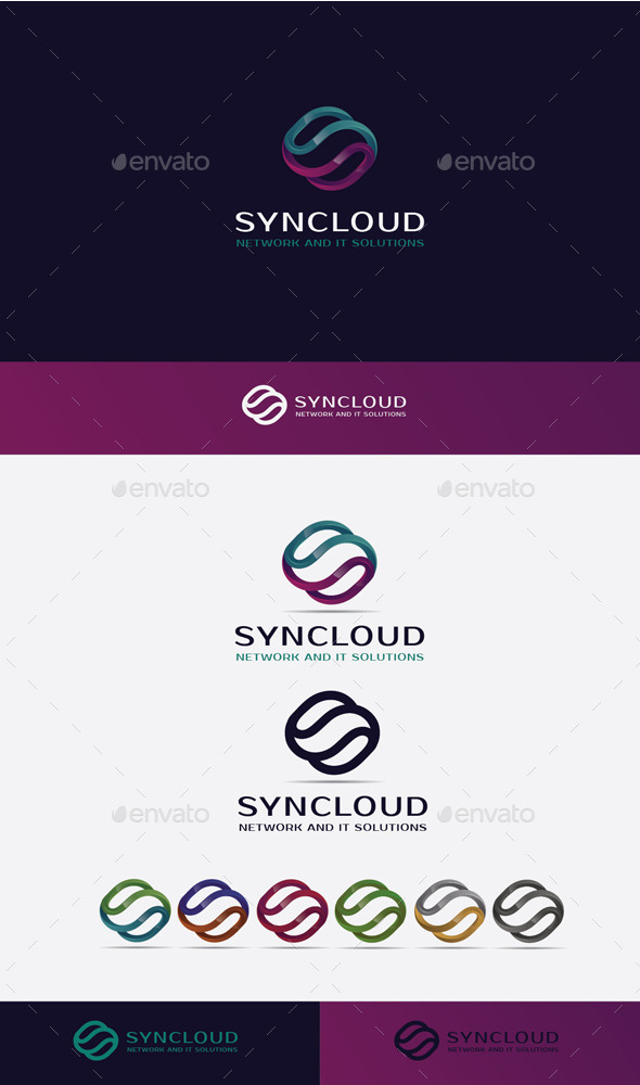 GraphicRiver Sync Cloud Logo 10484888