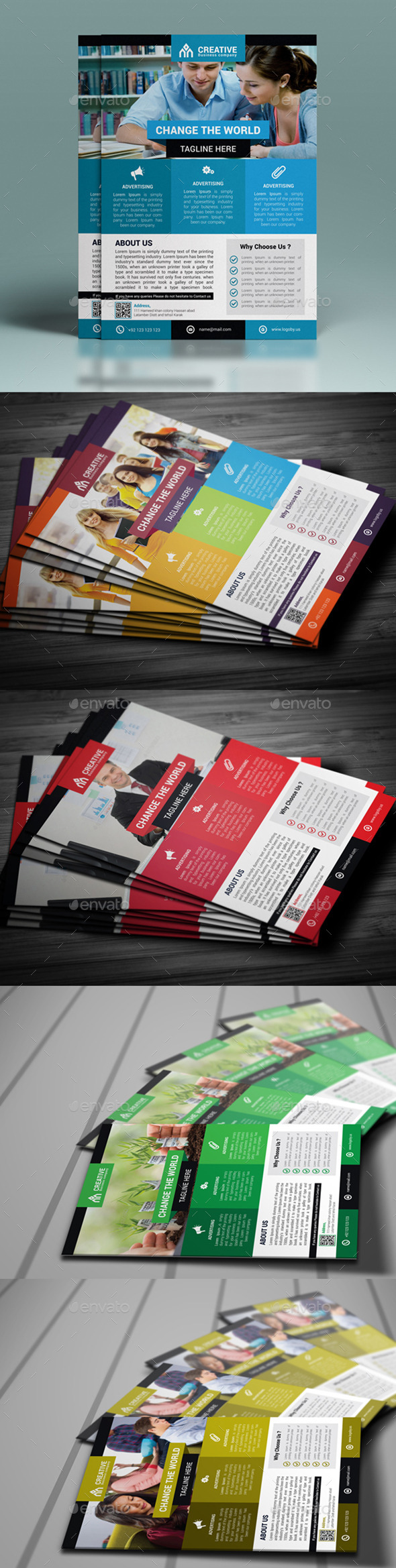 GraphicRiver Corporate Flyer Template 10484928