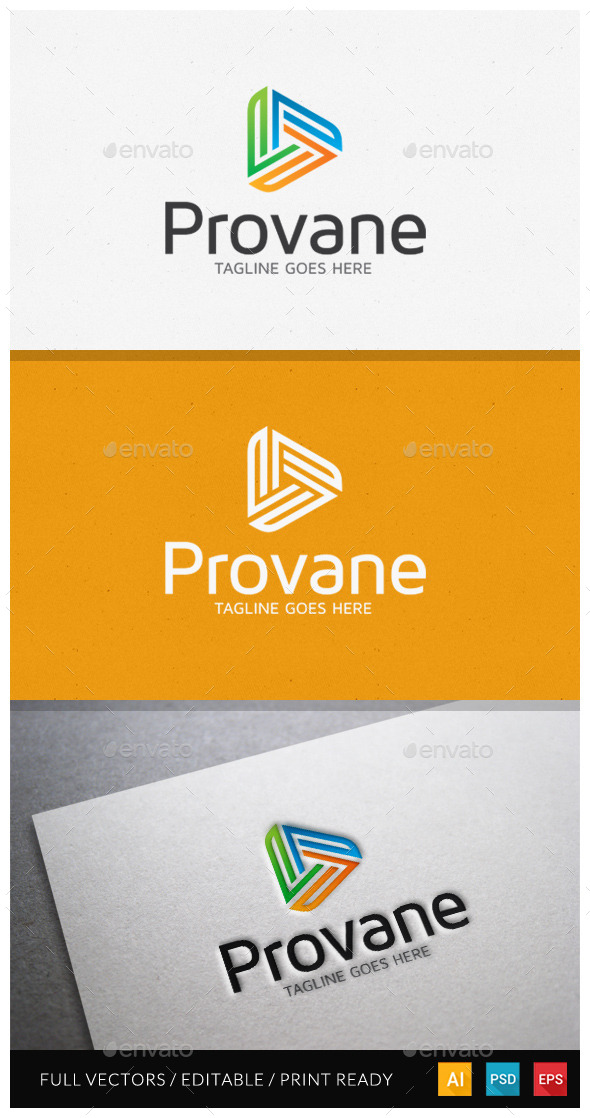 GraphicRiver Provane Media Logo Template 10485212