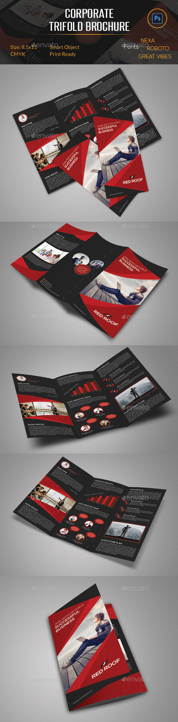 GraphicRiver Corporate Trifold Brochure 10485273