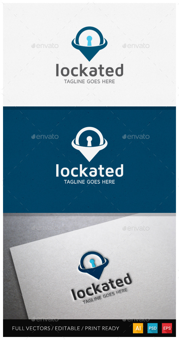 GraphicRiver Lockated Logo Template 10485279