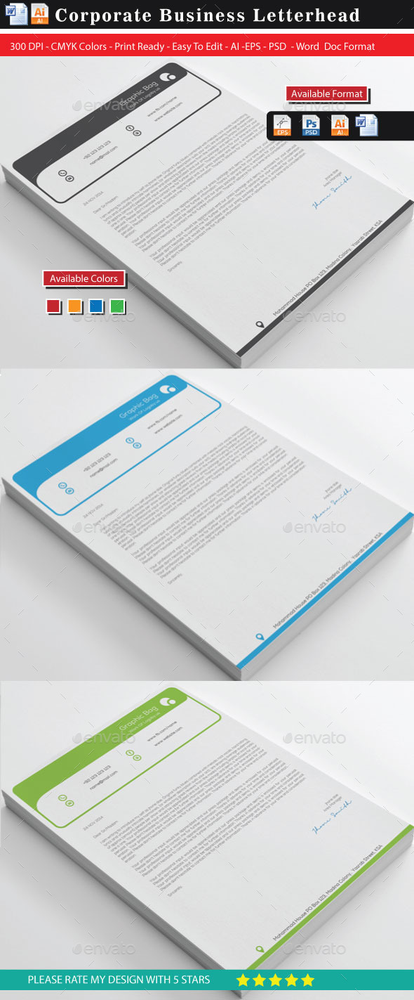 GraphicRiver Top Letterhead With Ms-Word 10485496