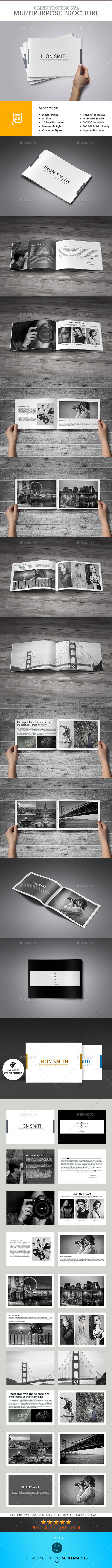 GraphicRiver Minimal Portfolio Brochure 10485718
