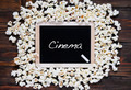 Popcorn and word cinema. - PhotoDune Item for Sale