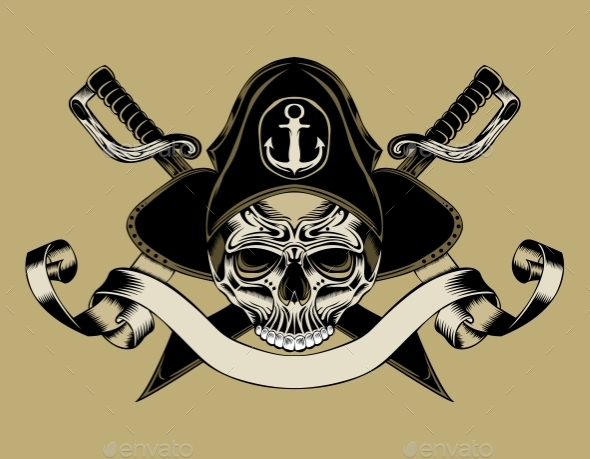 GraphicRiver Pirate Skull 10485980