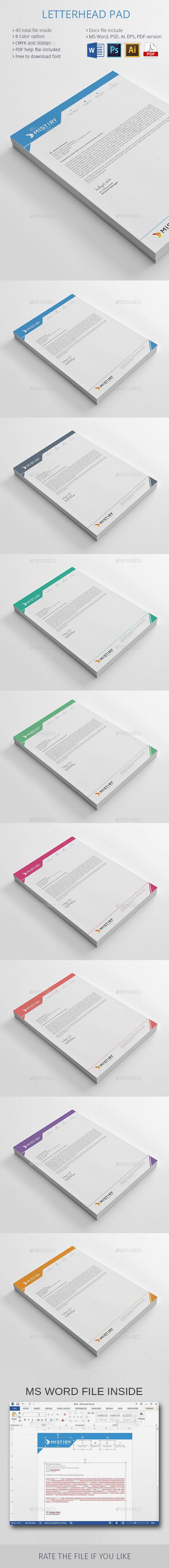 GraphicRiver Letterhead Pad 10440845