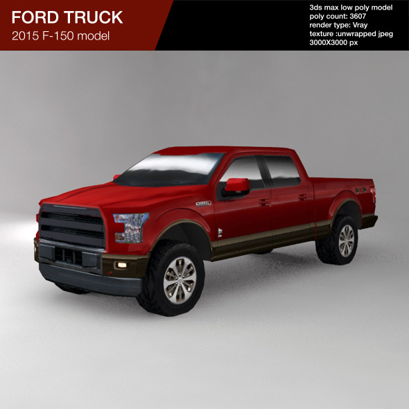 ford f150 2015 low poly truck by art good format 3docean. Black Bedroom Furniture Sets. Home Design Ideas