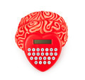 Human rubber brain with calculator heart shaped - PhotoDune Item for Sale