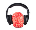 Human brain rubber with headphones - PhotoDune Item for Sale