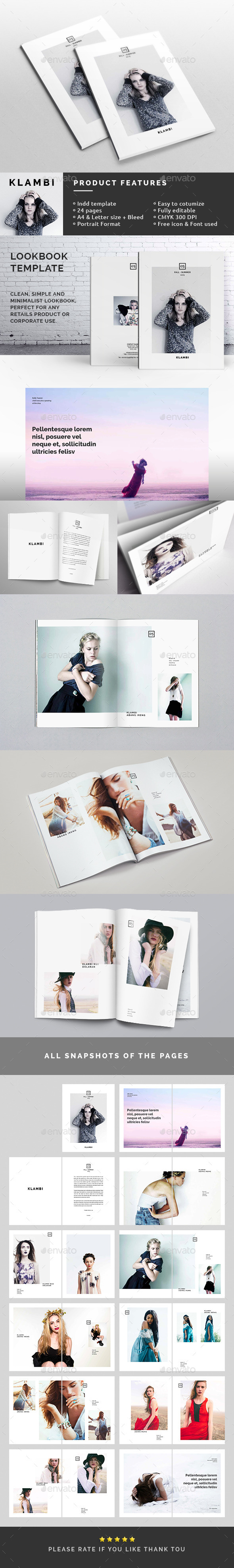 GraphicRiver Fashion Lookbook Template 10486087