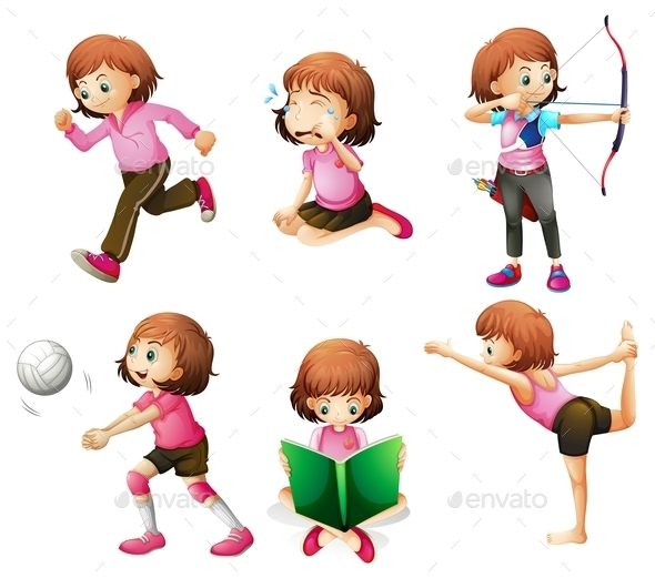 GraphicRiver Activities of a Girl 10486212