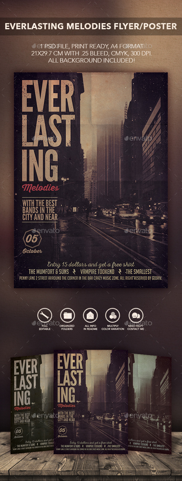 GraphicRiver Everlasting Songs Flyer Poster 10486277