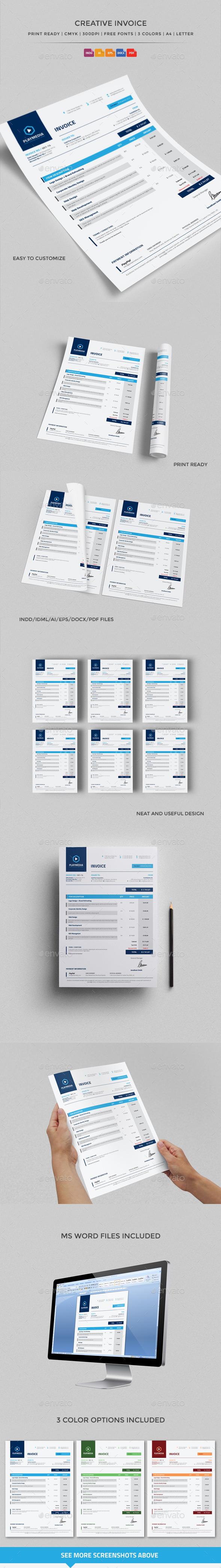 GraphicRiver Creative Invoice 10486288