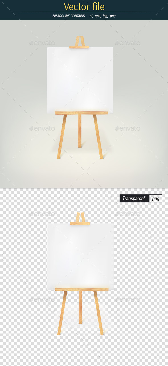 GraphicRiver Wood Tripod with Blank Page 10486289