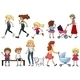 A Group of Young and Adult Ladies  - GraphicRiver Item for Sale