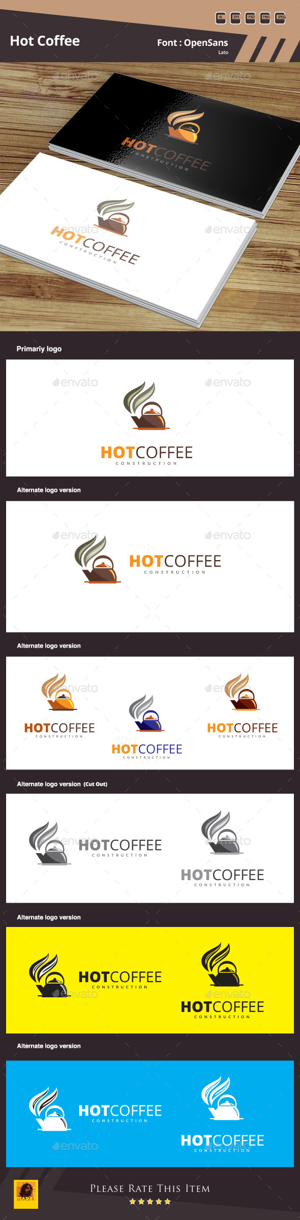GraphicRiver Hot Coffee Logo Template 10486351