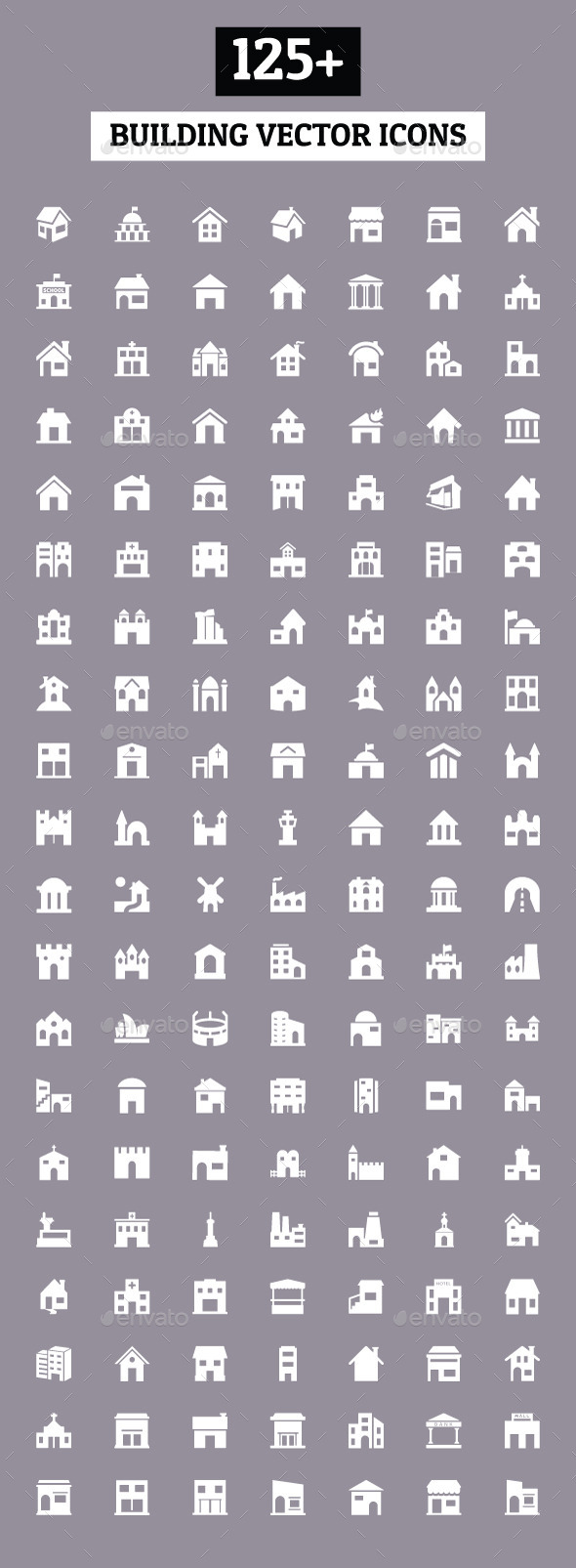 GraphicRiver 125& Building Vector Icons 10486414