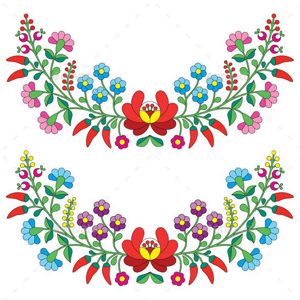 GraphicRiver Floral Folk Pattern 10486451
