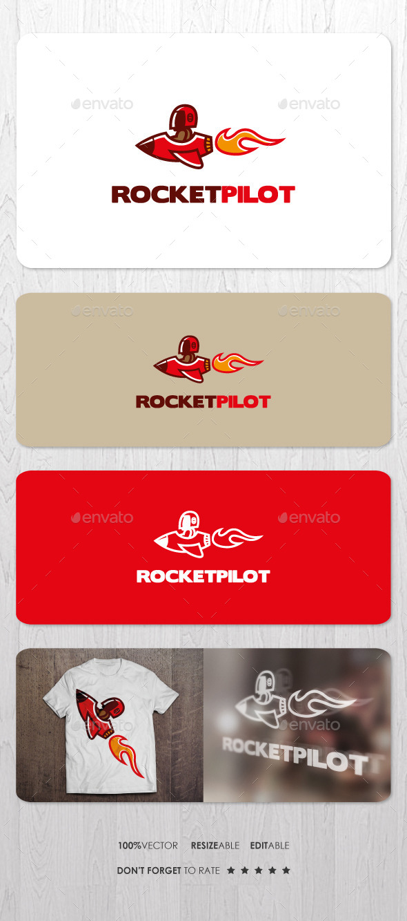 GraphicRiver Rocket Pilot Logo 10486463