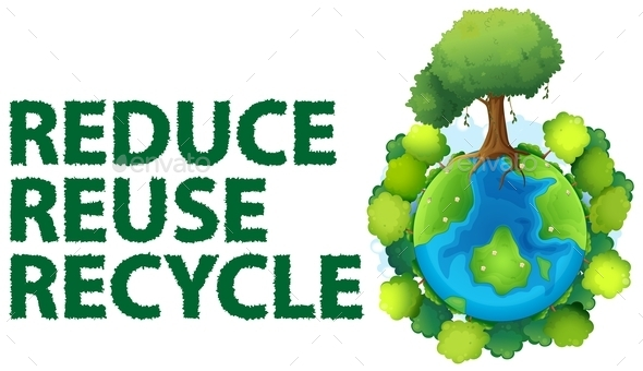 ... white waste reduce reuse reducing recycling pollution recycle reusing