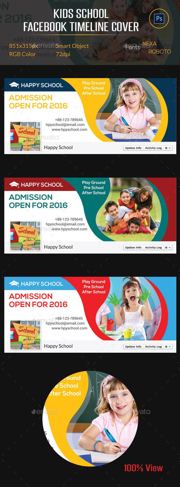GraphicRiver Kids School Facebook Timeline Cover 10486770